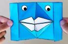 Origami fácil de hacer de labios de papel que hablan.
