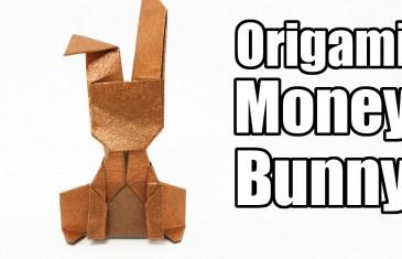 Como hacer un sencillo conejo de la suerte en papel.