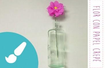 Cómo hacer una flor de papel crepé. Manualidades con papel.