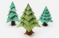 Como hacer un árbol de navidad en Origami