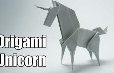 Tutorial de como hacer un unicornio de papel en origami.