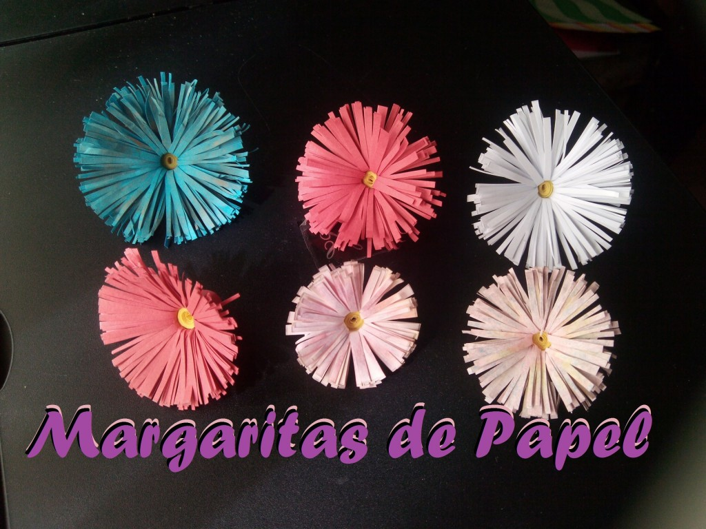 Como hacer manualidades de margaritas de papel - Www como hacer flores com ...