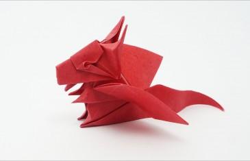 Origami bebé dragón para realizar en casa y liberarnos del estrés.