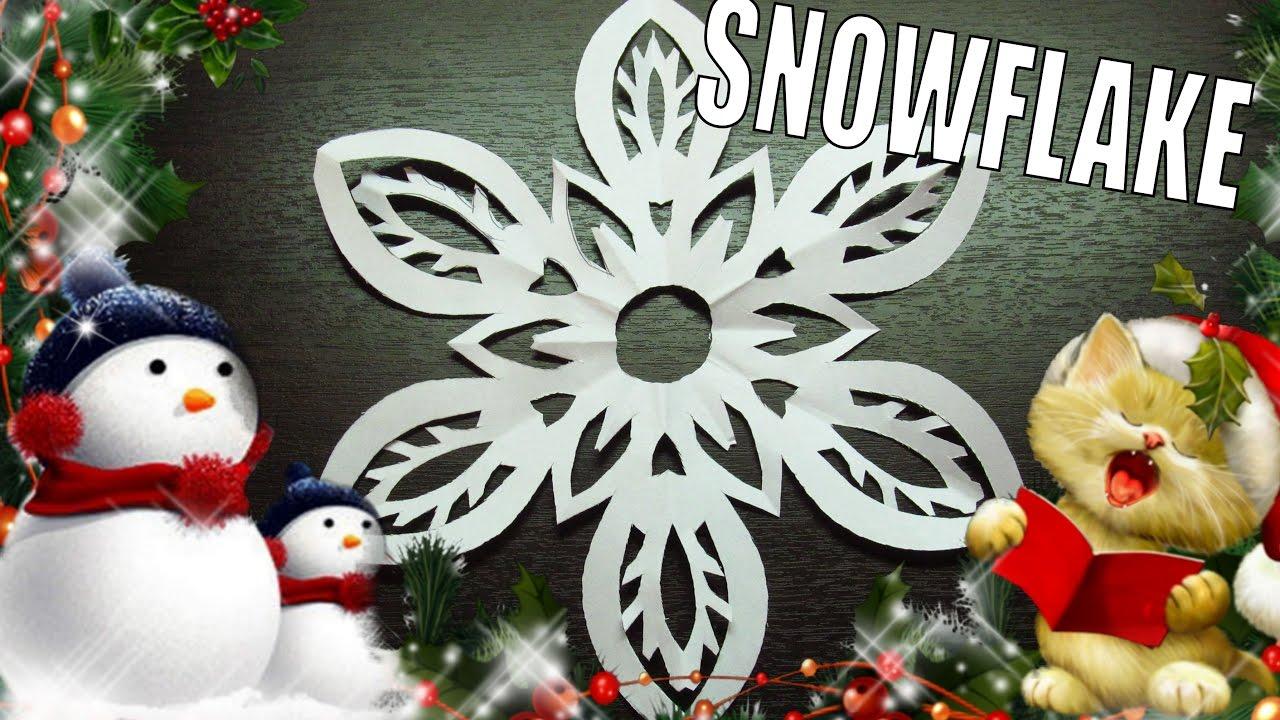 Decoraci n de navidad de un copo de nieve para nuestro rbol - Decoracion navidad papel ...