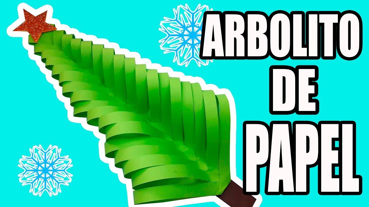 Árbol de navidad de papel, manualidad de origami fácil y sencillo.