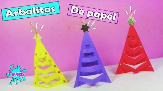 Adornos navideños en papel, manualidades para niños.