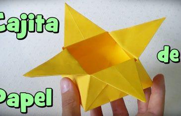 Caja de papel estrella, sencillo origami a partir de una hoja de papel.