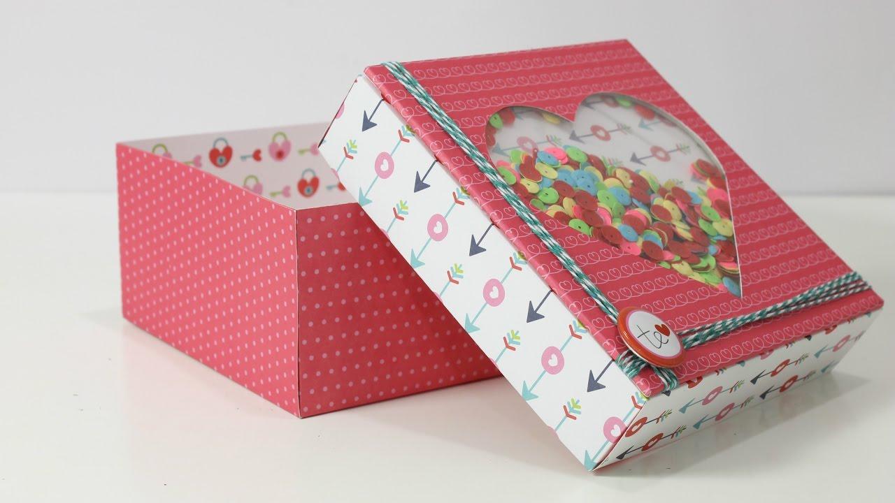 Cajita de papel decorado manualidades sencillas para regalar - Papel decorado manualidades ...