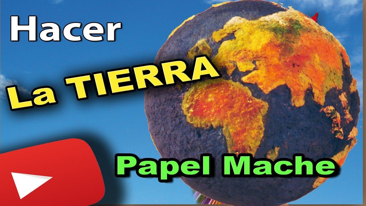Manualidad de cómo hacer el planeta Tierra con pasta de papel.