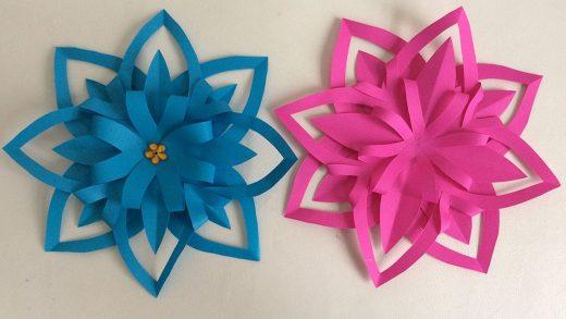 Flores de papel sencillas para nuestros pequeños en edad preescolar.
