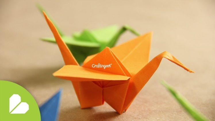Grulla de origami, figuras de animales para decorar.
