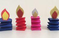 Hacer decoraciones navideñas en papel para todas las edades.
