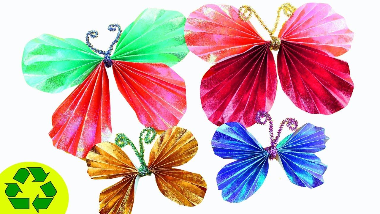 Mariposas de papel, manualidad para niños fácil y decorativo.