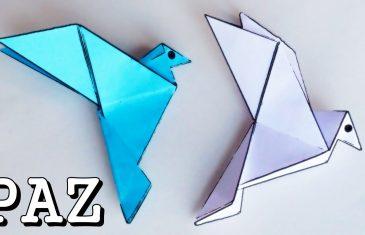 Paloma de la paz en origami. Una manualidad para niños.