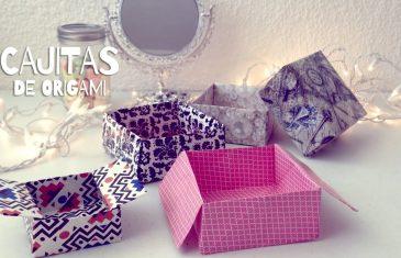 Cajitas de origami, dos modelos diferentes muy fáciles de hacer.
