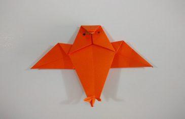 Búho de origami, manualidades en papel sencillas para todas las edades.