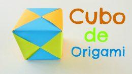 Cubo de papel, origami modular sencillo para principiantes.