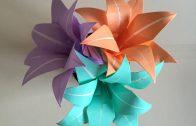 Lirio de papel en diferentes colores para hacer un precioso ramo.