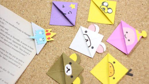 Separadores de papel con tus personajes favoritos.